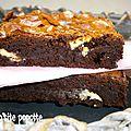 Brownie de martha stewart aux pépites de chocolat blanc