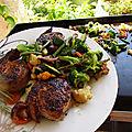 Roulés d'agneau /merguez cuisson à la plancha