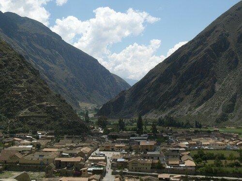 Ollantaytambo, paysage depuis les ruines