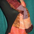 Etole, chaleureux pachtwork de soie, satins & batiks