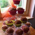 Muffins chocolat & chocolat orange