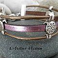 <b>Rose</b> et brillant mais multirangs pour un <b>bracelet</b> charmant !