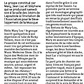 Excellent article sur Mary-Lou à Lapoutroie