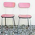Chaises formica rouge