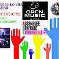 Open music : appel à candidature