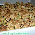 Crumble de courgettes aux amandes et au parmesan