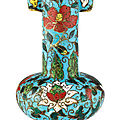 A cloisonné enamel <b>arrow</b> vase, Ming dynasty, 15th–16th century