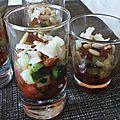 Tartare de tomates et courgettes en verrines - by claire -