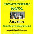 Formation bafa 2016 à blois