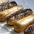 Eclairs au kawa et au chocolat :)