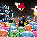 Angry birds et puzzle & dragons en version jeu mobile