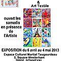 Invitation: expositions smaranda et jean marie bourgery