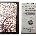 Recueil des actes de la Préfecture du Département de la seine-Inférieure, année <b>1833</b> : 1ère partie du volume des années <b>1833</b> et