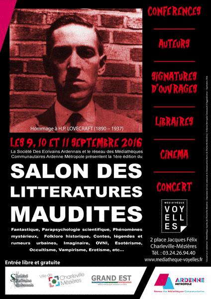 Premier Salon des Littératures Maudites à Charleville-Mézières : Histoire du Diable, de la Franc-Maçonnerie...
