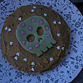 Deadly cake (caramel, cacahuète et pépites de chocolat)