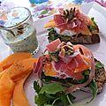 Bruschetta de melon, une recette tirée du dernier numéro de yummy magazine !