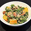 Salade de kale et de courge rôtie