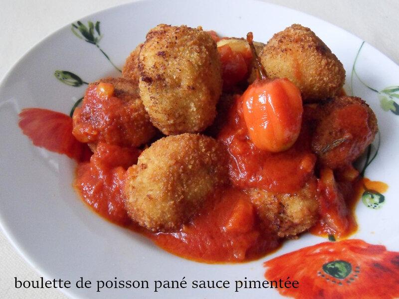boulettes de poisson panés sauce pimentée1