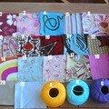 choix des tissus et fils pour bracelet flower