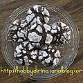 Cookies craquelés au chocolat / потрескавшееся шоколадное печенье