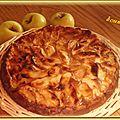Tarte flan aux pommes