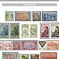 France - vignettes - mutualite (27 pièces).