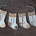 Guirlande de chaussettes de Noël