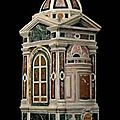 A polychrome marble tempietto. Florentine, <b>16th</b> <b>century</b> with some later additions