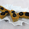 Financiers parmesan olives noires