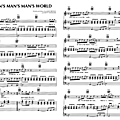 It's a man's man's world (Partition - Sheet-Music)