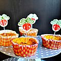 Muffins Carottes Curry & Coeur Boursin
