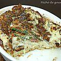 Clafoutis lardons, roquefort et noix