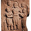 Important Kushan High Relief, North West India, 2nd century, Kushan period