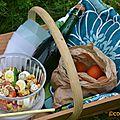 Salade pois chiches et boursin noix et figues