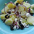 Salade de pommes de terre primeur à la grecque
