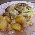 Crumble aux nectarines & pêches