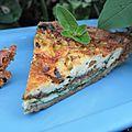Jardinier vs Wendy la chèvre. Jardinier: 0, Wendy: 1. Pour Jord, une tarte verte épinard, <b>pistache</b> et roquefort!