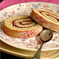 Gâteau roule pistache & framboise : toujours autant de succès et toujours aussi moelleux