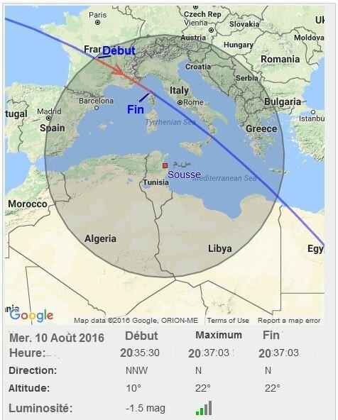 ISS vue de Sousse