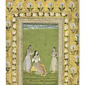 Lady Seated at her Toilette, Hyderabad, <b>1720</b>-<b>1750</b>
