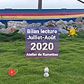 <b>Bilan</b> <b>Lecture</b> Juillet-Août 2020