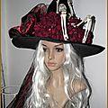 Chapaeau <b>Sorcière</b> Squelette Araignée Gothique Déguisement Halloween Gothic Skull Spider Witch hat