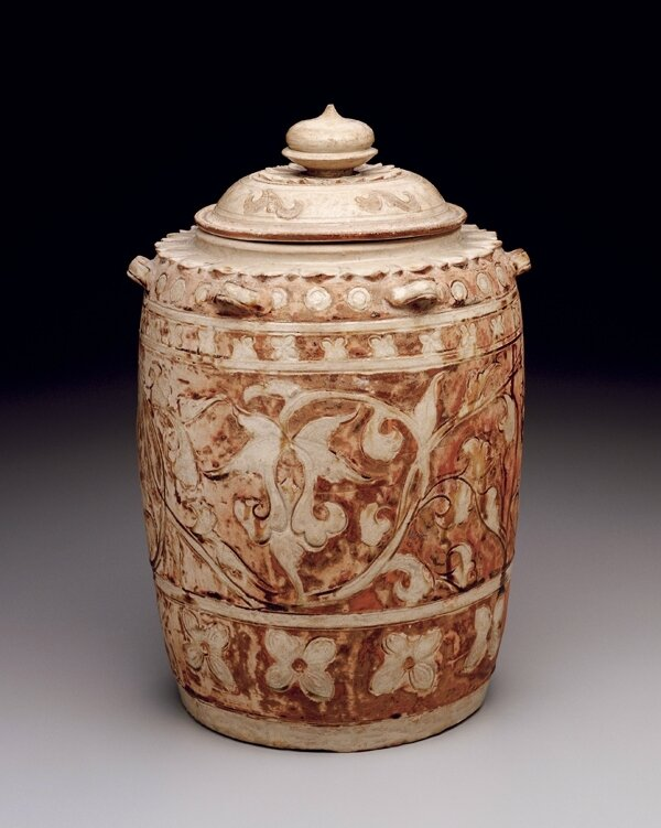 Covered Jar, Vietnamese, Thanh-hoa province, 11th–12th century