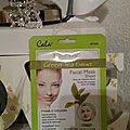 Facial mask sheet green tea extract cala