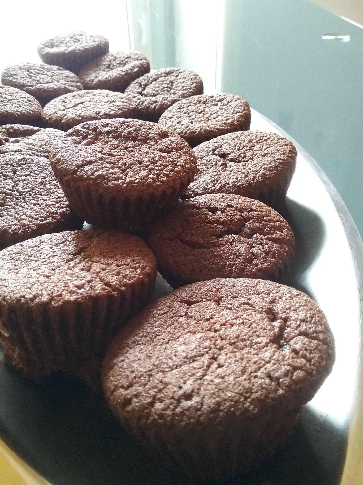 Muffins au chocolat et aux oranges confites 023