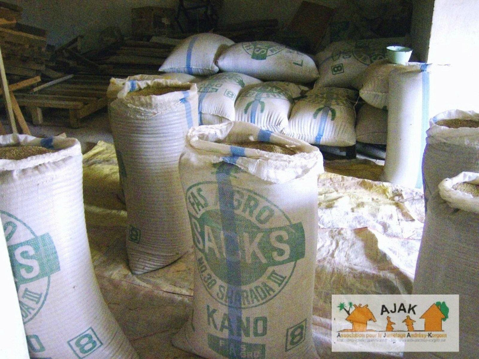 les sacs de céréales