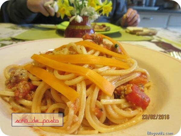 Spaghetti à la mimolette.