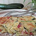 Brownie courgettes-lardons-fromage