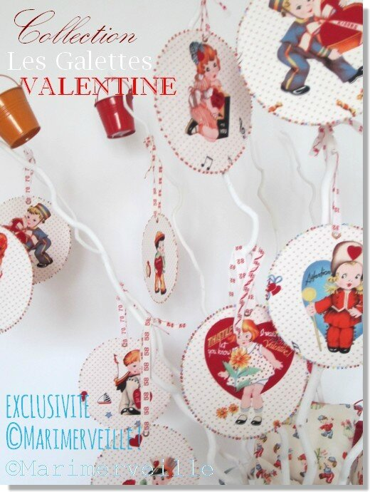 collection les galettes Valentine de marimerveille