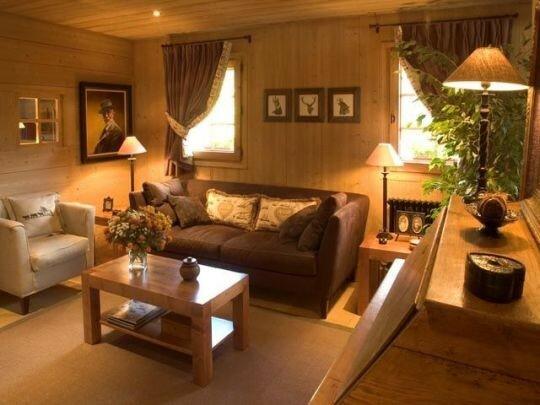 Un petit salon tout simple - Pour les amoureux des chalets, de la ...
